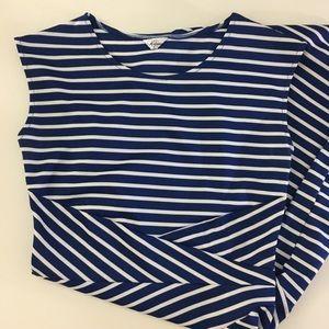 Dresses & Skirts - Striped Bodycon Blue Dress